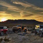 Bronco Colors truck in the desert